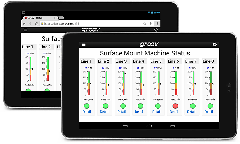 groov View in Browser and App on Android Tablet