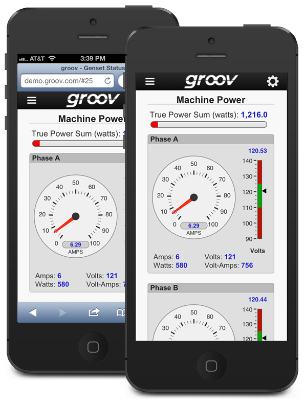 groov View in Browser and App on iPhone