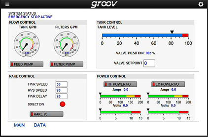 groov View screen