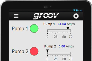 NESL groov mobile interface