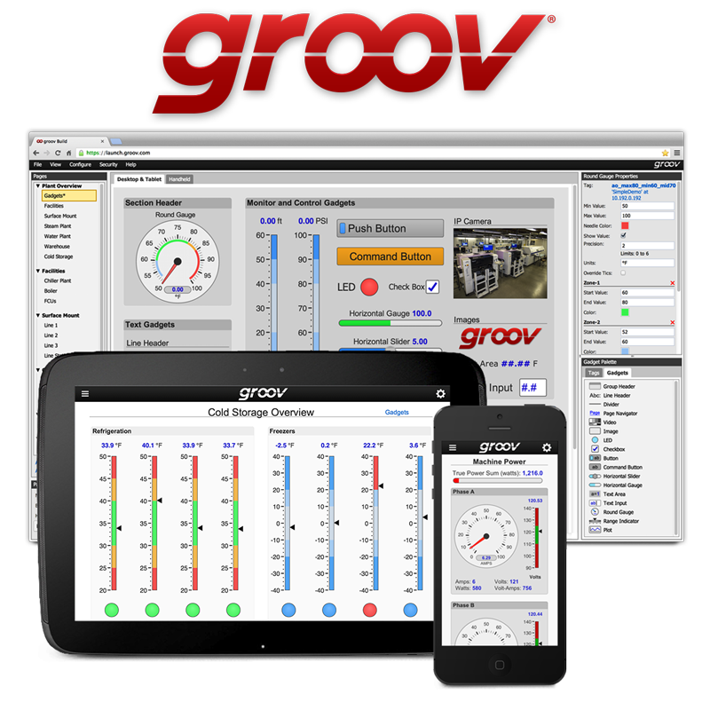 groov on PC web browser and mobile devices
